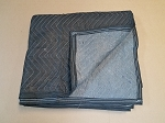 **TEMPORY**Quilted Movers Blanket (DK BLUE/LT BLUE) 72 x 80   65#/Dozen (Purchase per Blanket)