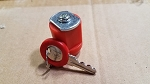 RED #1 Keyed-alike Plastic 28 mm CYLINDER Managers Lock- RED