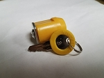 YELLOW #3 Keyed-alike Plastic 28 mm CYLINDER Managers Lock- YELLOW